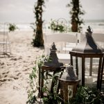 Lanterns, beach ceremony, wedding details