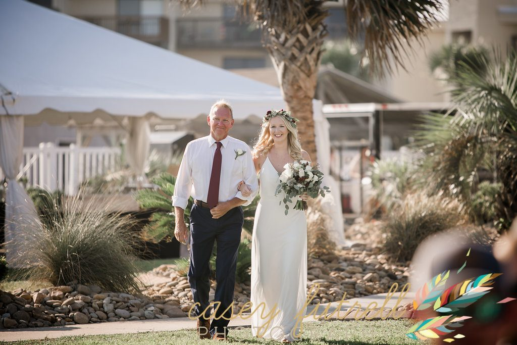 Bridal March, oceanfront ceremony