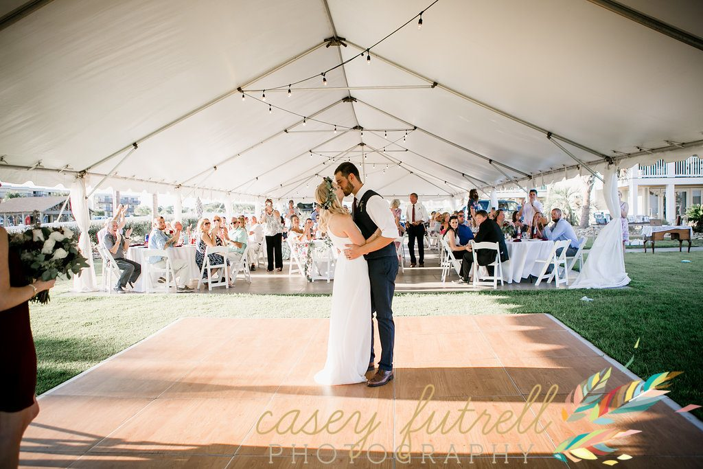 Tented reception, first dance,