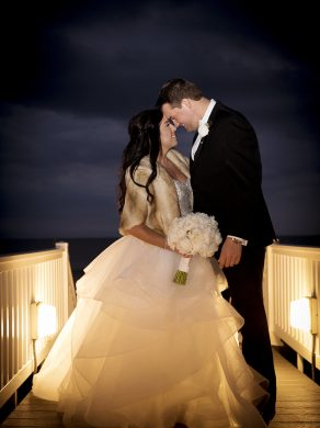 Bride and groom photo, beach image, sunset bride