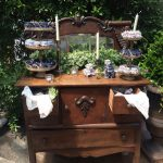 wedding details, antique wooden dresser rental
