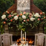wooden table for two, Watson House Wedding