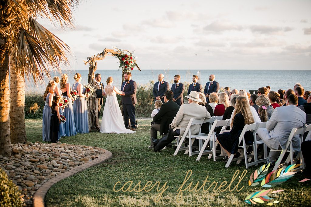 Oceanfront wedding ceremony, Emerald Isle North Carolina