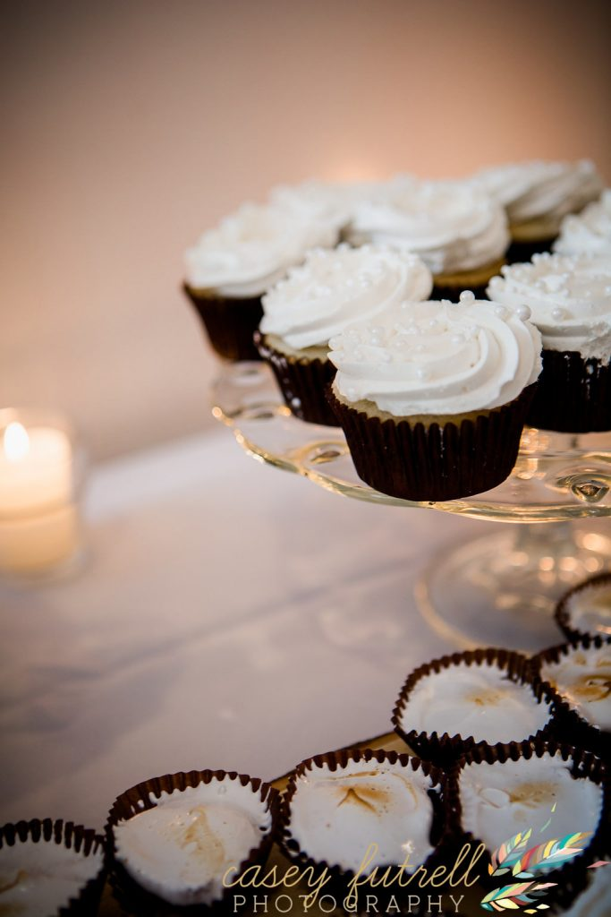 Wedding day details, assorted dessert cupcakes