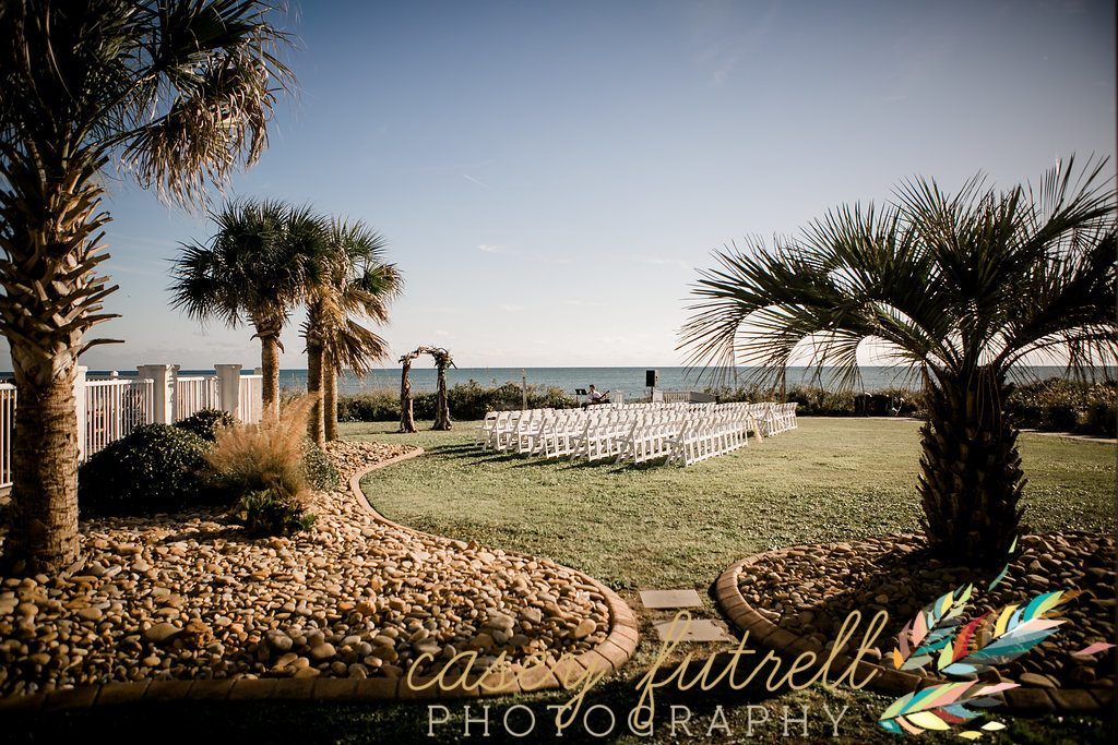 Emerald Isle oceanfront wedding ceremony